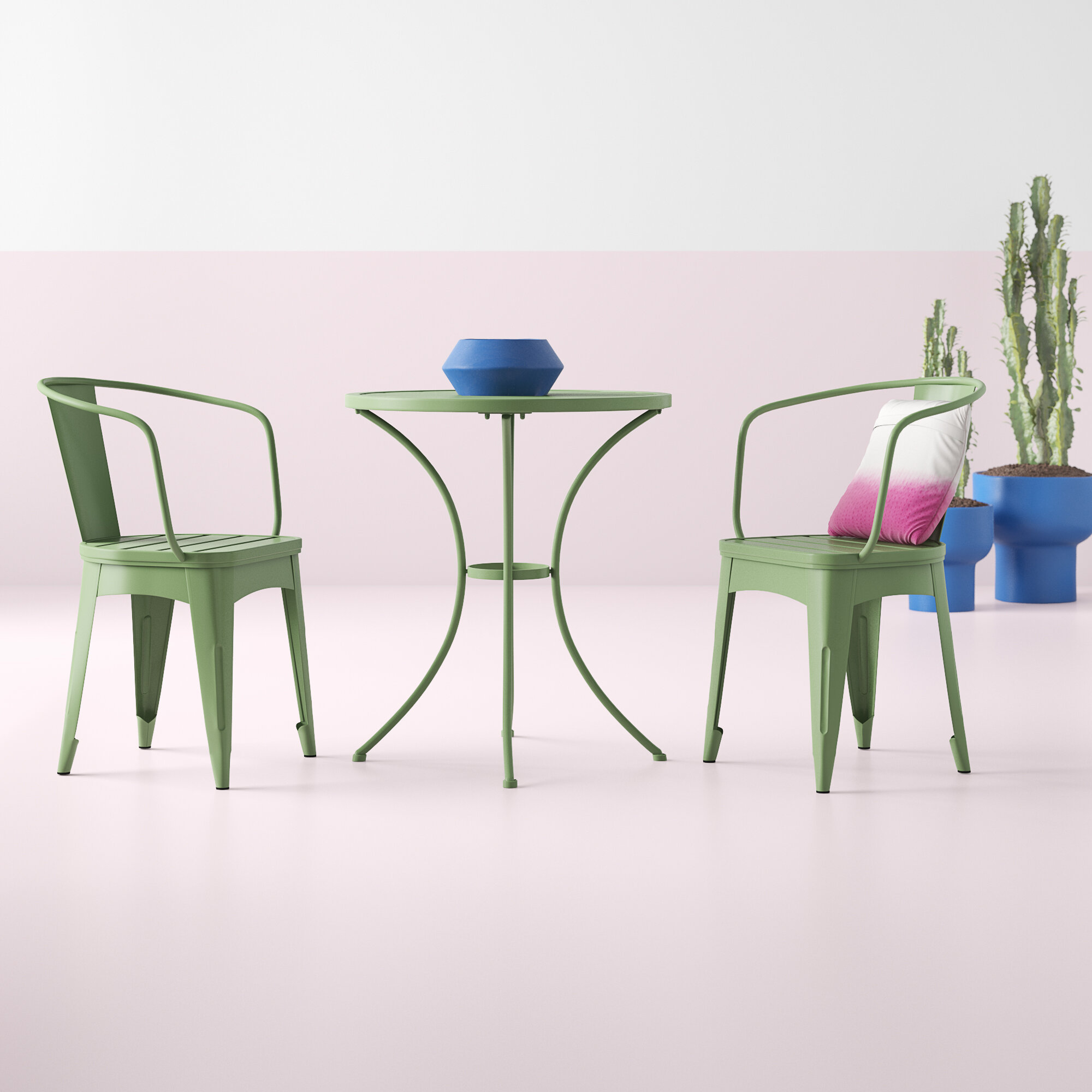 Two Person Patio Dining Sets You Ll Love In 2021 Wayfair These dining chair are trendy and can fit into every decoration style. restivo 3 piece bistro set with cushions