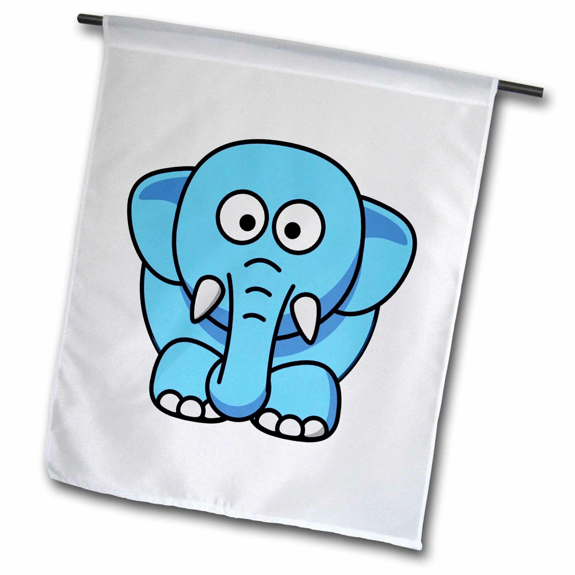 3drose Cute Baby Elephant Polyester 18 X 12 In Garden Flag Wayfair