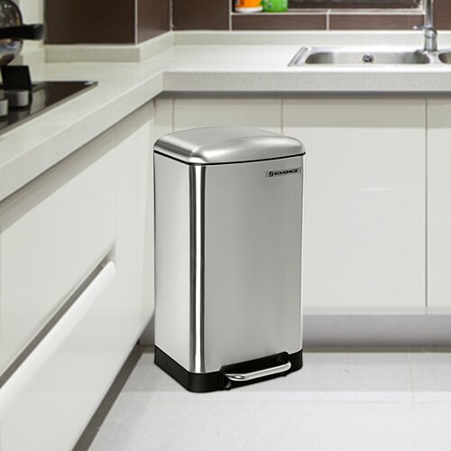 Kitchen 30 Litre Step On Rubbish Bin Symple Stuff Colour: Si