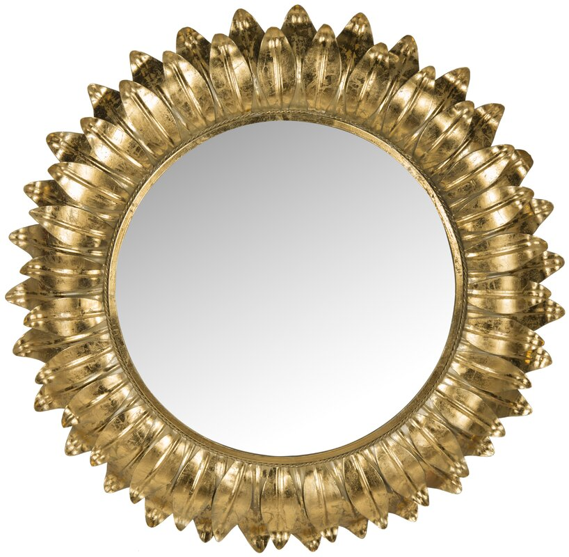 Sunburst Wall Mirror safavieh arles sunburst wall mirror & reviews | wayfair