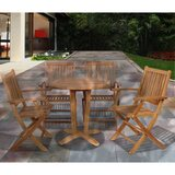 Lia International Home Outdoor 5 Piece Teak Dining Set