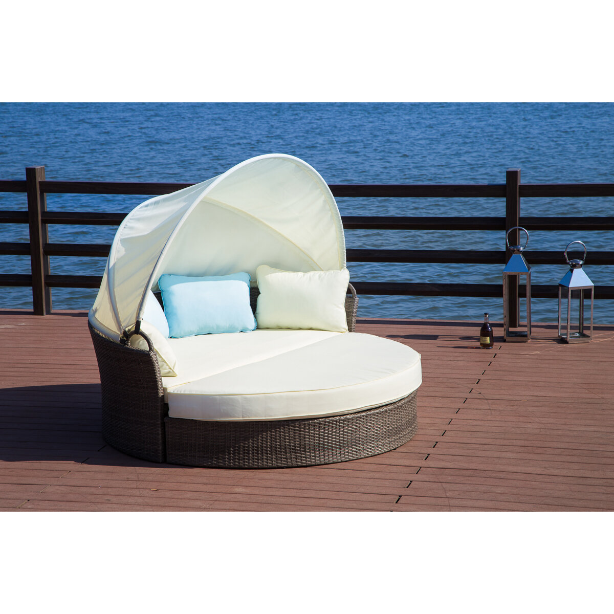 Harlow patio daybed with cushions reviews joss main