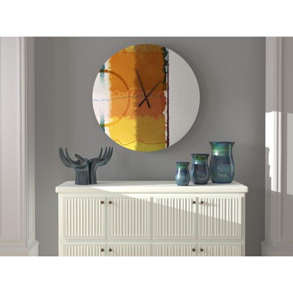 Latitude Run Pet Heteroclite Abstract Metal Wall Clock Wayfair
