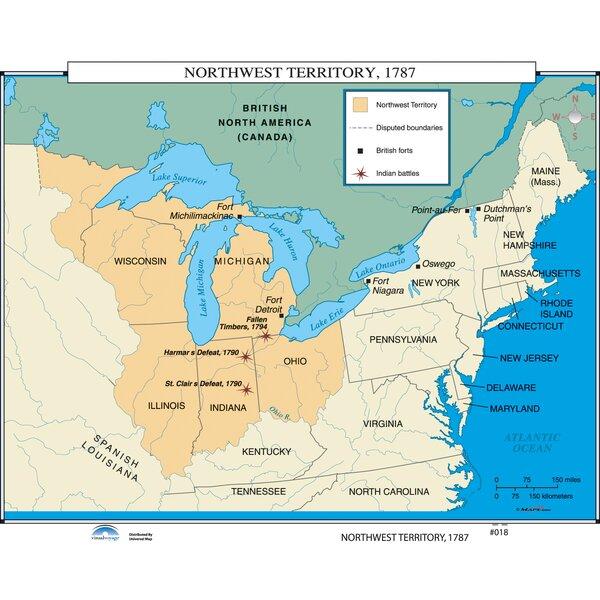 Universal Map U S History Wall Maps Northwest Territory Wayfair Ca