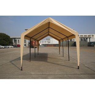Impact Shelter Carport 10 Ft. W x 20 Ft. D Steel Canopy