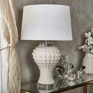 Dalary Ceramic Textured Swirls 30 Table Lamp