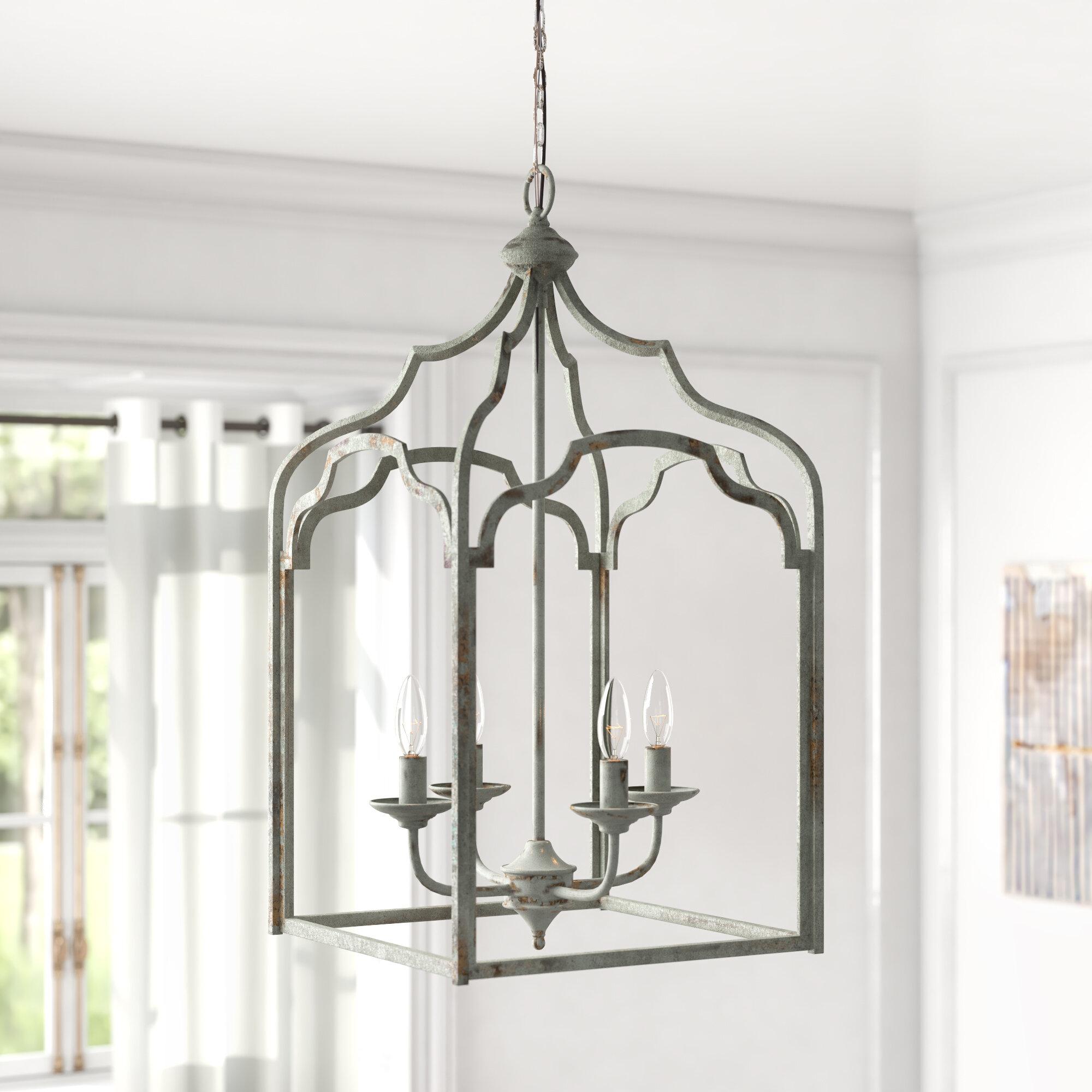 Light Lantern Rectangle Chandelier