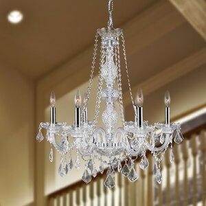Doggett 6-Light Chain Crystal Chandelier