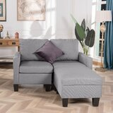 Ailpein 53.5'' Reversible Modular Sofa & Chaise with Ottoman by Ebern Designs