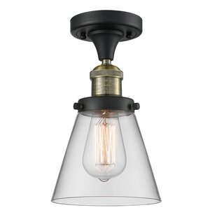 Arceneaux 1-Light Semi Flush Mount by Williston Forge