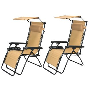 Famis Corp Reclining Zero Gravity Chair (Set of 2)