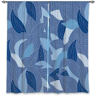 Abstract Room Darkening Rod Pocket Curtain Panels (Set of 2) by DiaNoche Designs