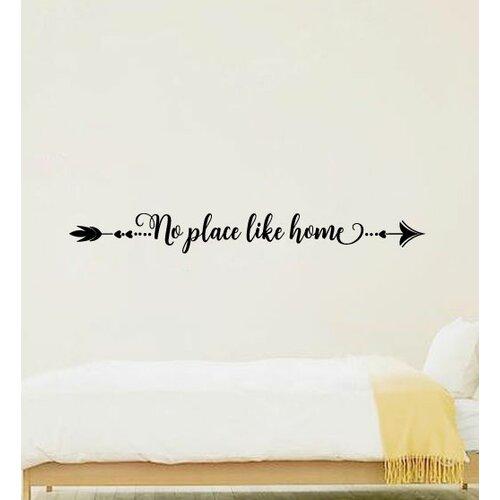 Otani Arrow No Place Like Home Vinyl Words Wall Decal
