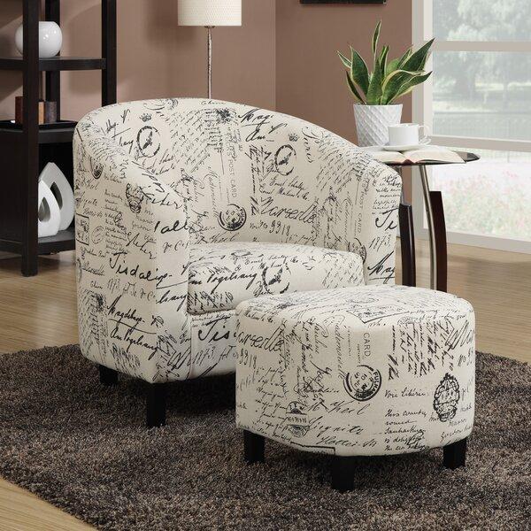 Charlton Home Emory Barrel Chair And Ottoman U0026 Reviews | Wayfair
