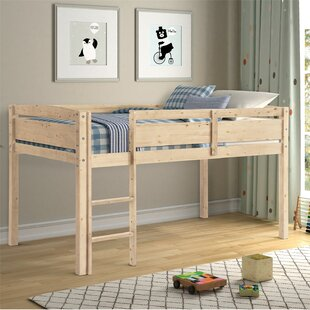 Airell Wood Twin Low Loft Bed by Harriet Bee