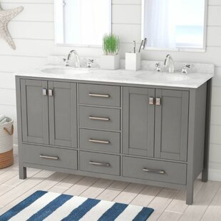 Newtown 60 Double Bathroom Vanity with Marble Top
