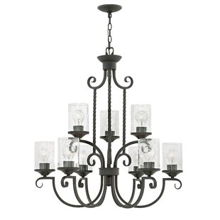 Fleur De Lis Living Carlyle 9-Light Shaded Chandelier