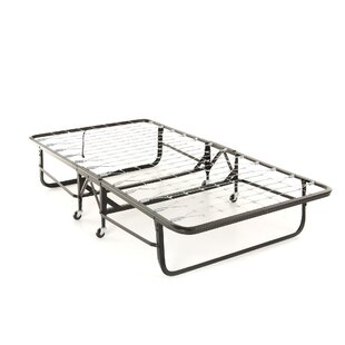 Symple Stuff Folding Link Spring Bed with 39'' Foam Mattress and Angle Steel Frame