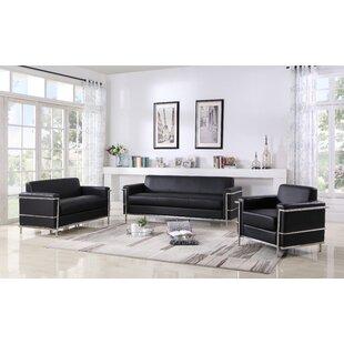 Charlestown 3 Piece Living Room Set by Orren Ellis