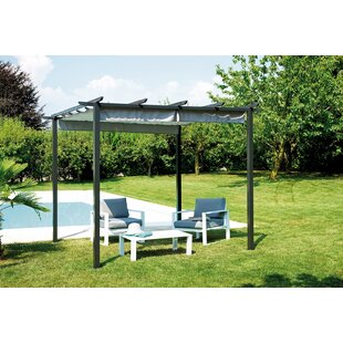Necaise 3m X 3m Iron Pergola By Sol 72 Outdoor