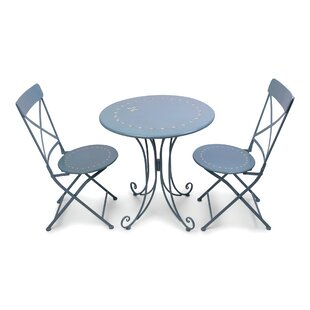 August Grove Jahnke 3 Piece Bistro Set