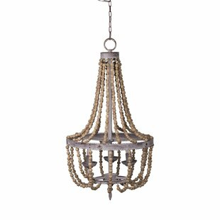 Bungalow Rose Fanelli Wood Bead 8 Light Chandelier Wayfair