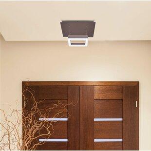 Orren Ellis Eva White Color-Changing LED 1-Light Semi Flush mount