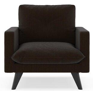Crampton Satin Weave Armchair by Corrigan Studio