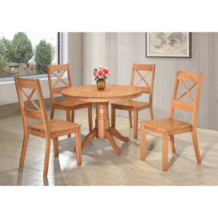 Benites Dining Set With 4 Chairs (Set Of 5) By Brambly Cottage