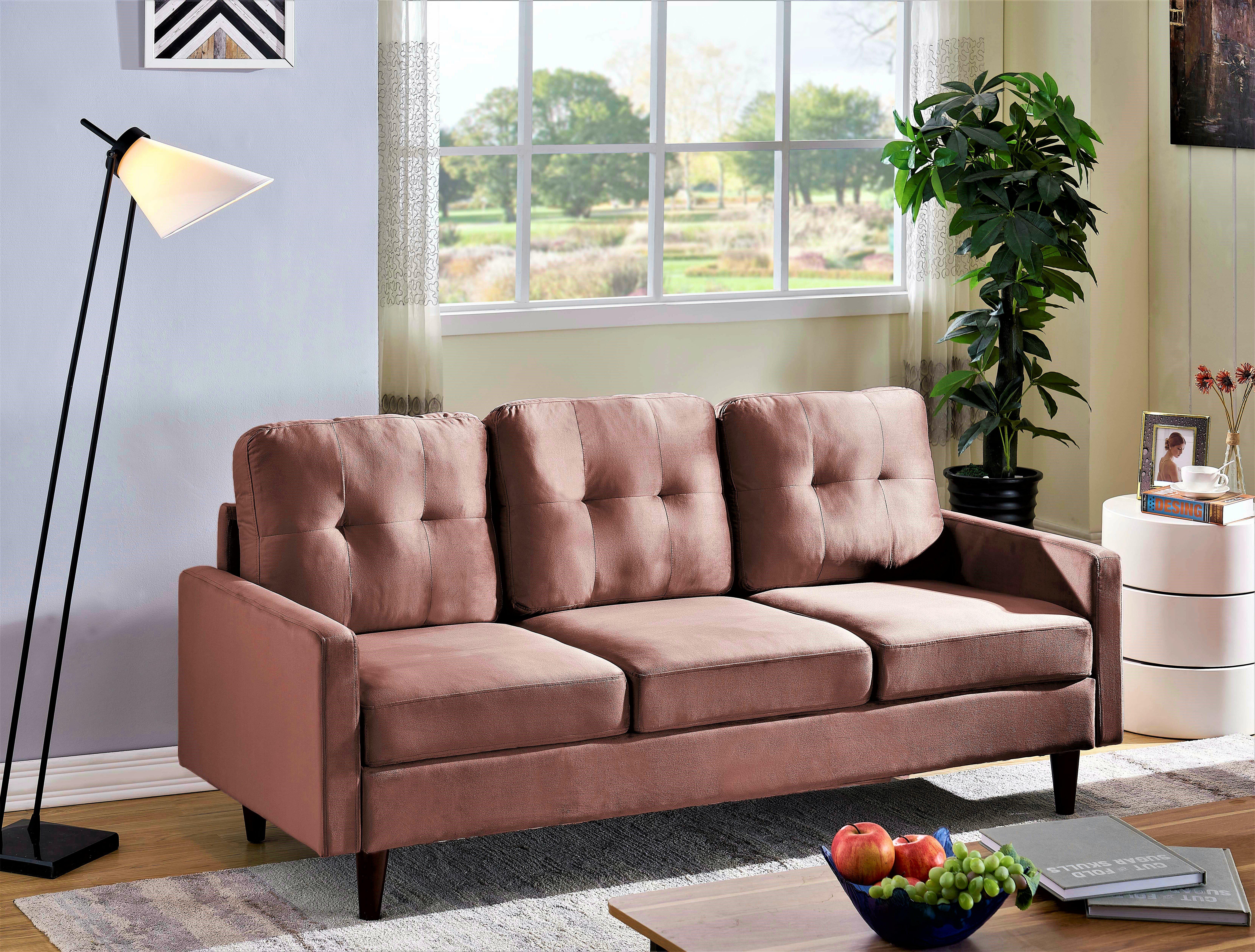 Latitude Run Brodde Velvet 71 Square Arms Sofa Reviews Wayfair