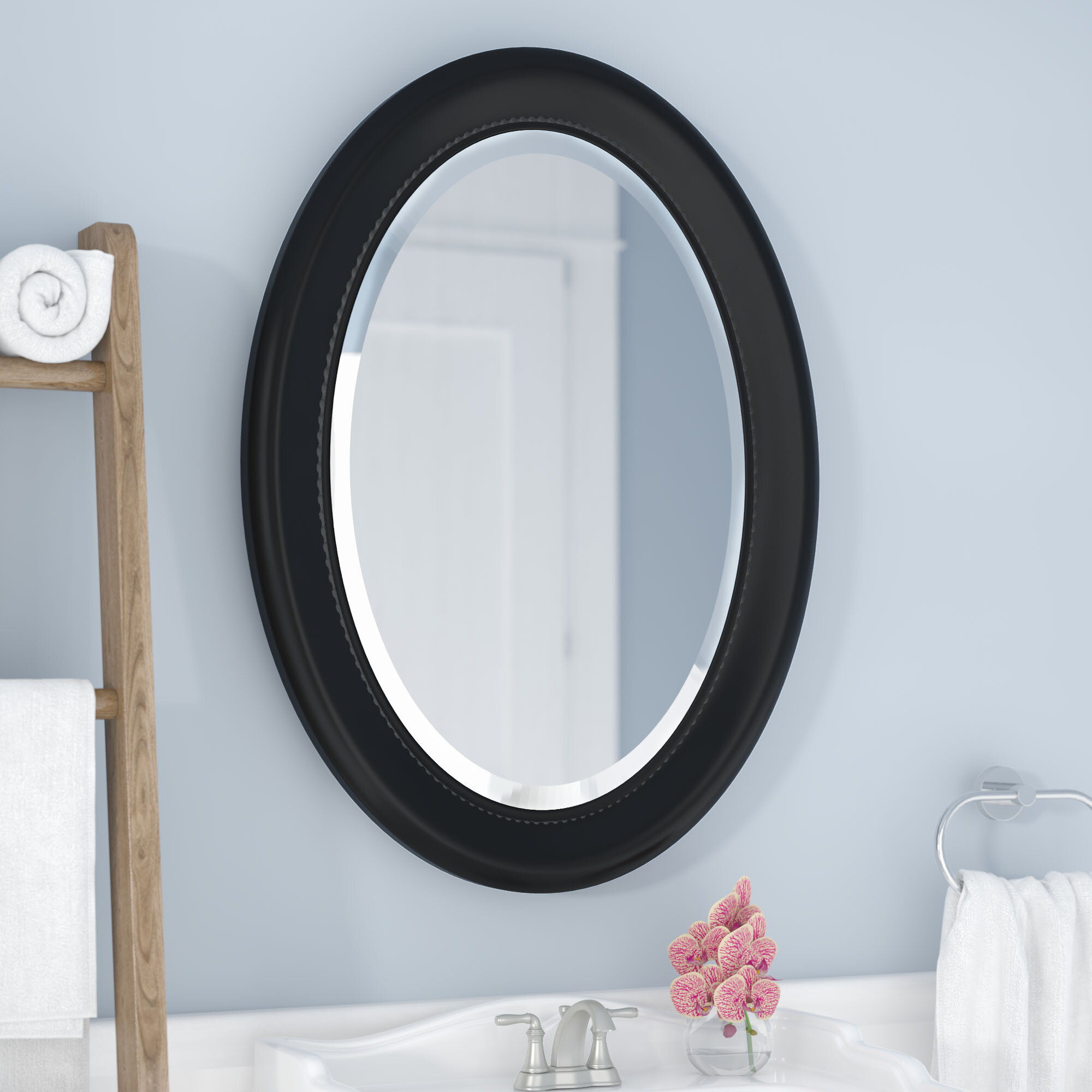 Beachcrest Home Elenor Oval Wall Mounted Accent Mirror Reviews Wayfair Ca