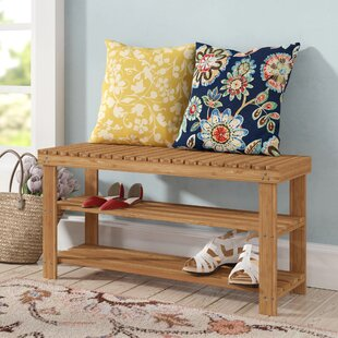 Bamboo Storage Bench Rebrilliant