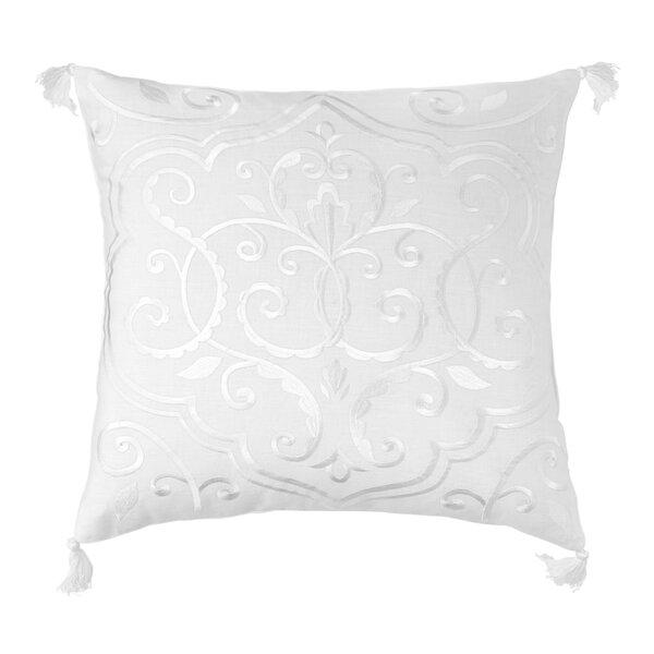 One Allium Way Amery Medallion 100 Linen Throw Pillow Wayfair