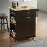 Aggie Kitchen Cart Solid Wood by Red Barrel Studio®