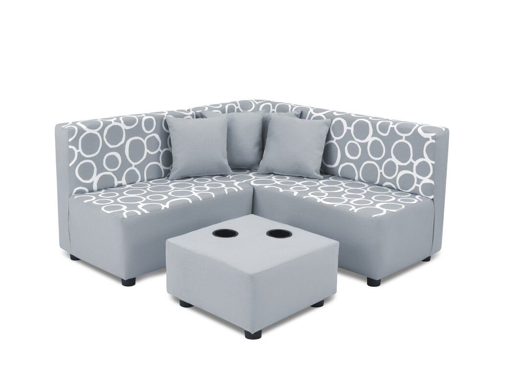 Kids Cotton Sectional and Ottoman with Cup Holder  sc 1 st  AllModern : sectional cup holder - Sectionals, Sofas & Couches