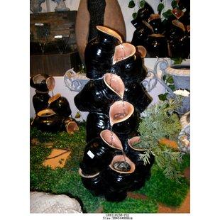 Hi-Line Gift Ltd. Fiber and Resin Multi Jug Fountain