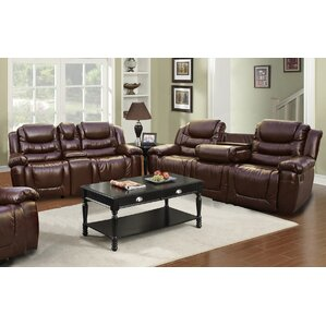 Ottawa 2 Piece Leather Living Room Set by Be..