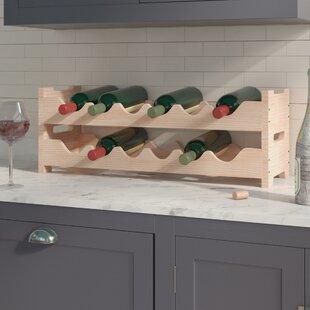 Red Barrel Studio Karnes Pine Mini Scalloped 12 Bottle Tabletop Wine Rack