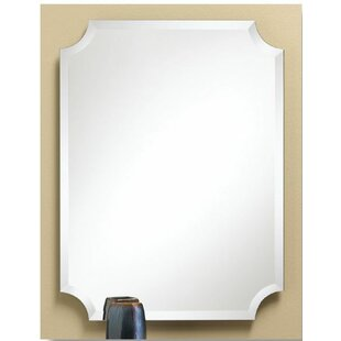 Great Price Eda Scalloped Corner Bathroom/Vanity Mirror By Darby Home Co