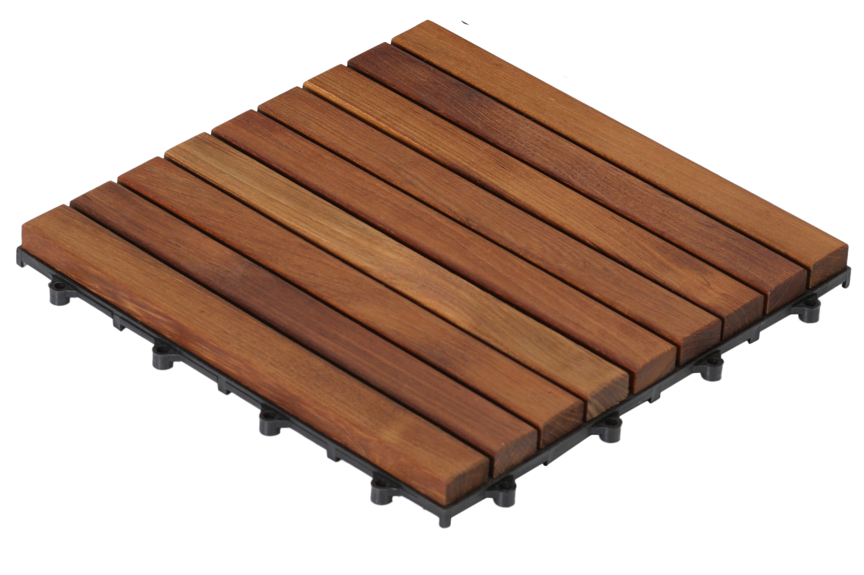 Teak Wood Snap In Deck Tiles