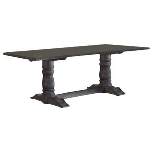 Sandown Solid Wood Dining Table Three Posts