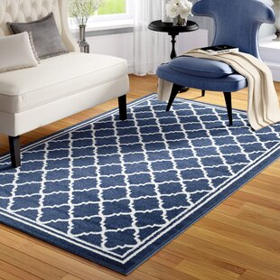 Stodola Navy/Beige Indoor/Outdoor Area Rug