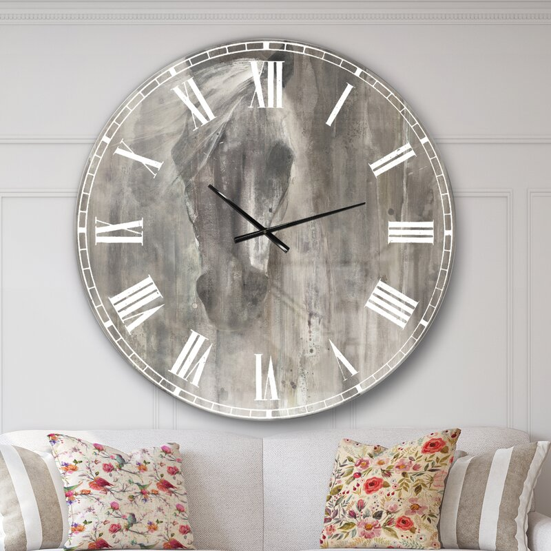 East Urban Home Farmhouse Wall Clock Reviews Wayfair