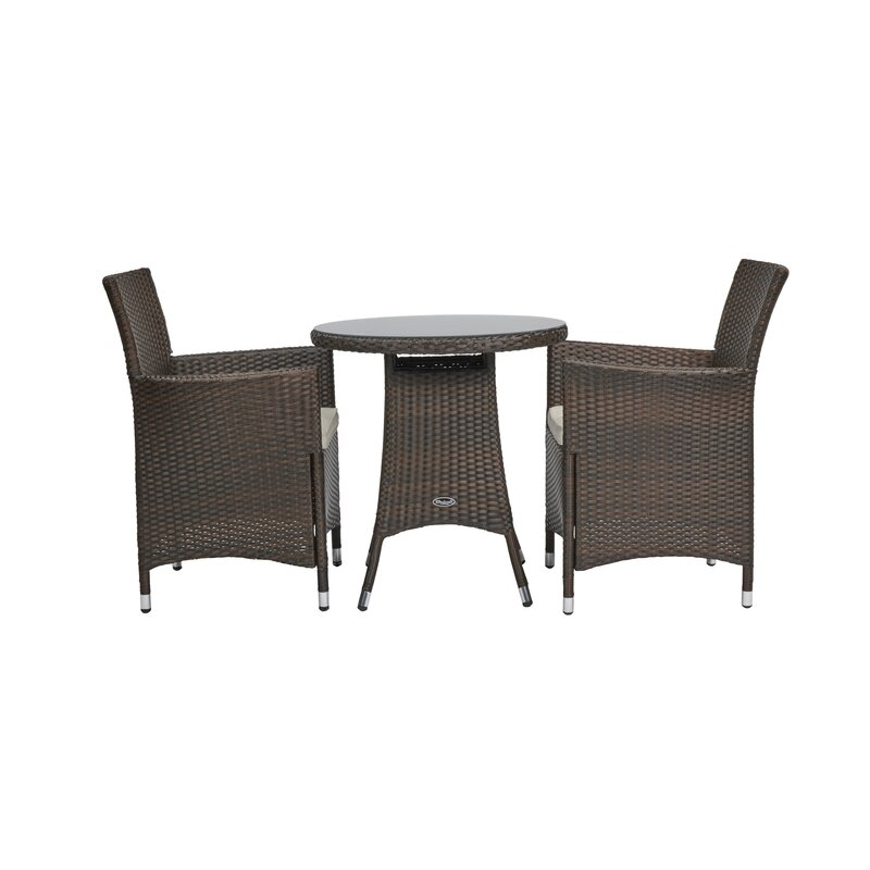 Termonde 2 Seater Bistro Set With Cushions