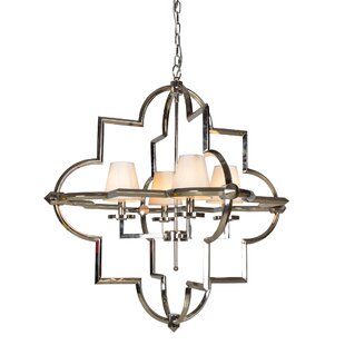 Leda 4-Light Geometric Chandelier by Everly Quinn