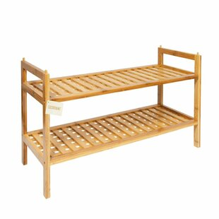 Bamboo 2 Tier Shoe Rack By Rebrilliant