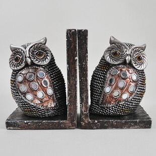 Strikingly Idea Bird Bookends. Owls Shelf Tidy Bookends  Set of 2 Adults Wayfair co uk