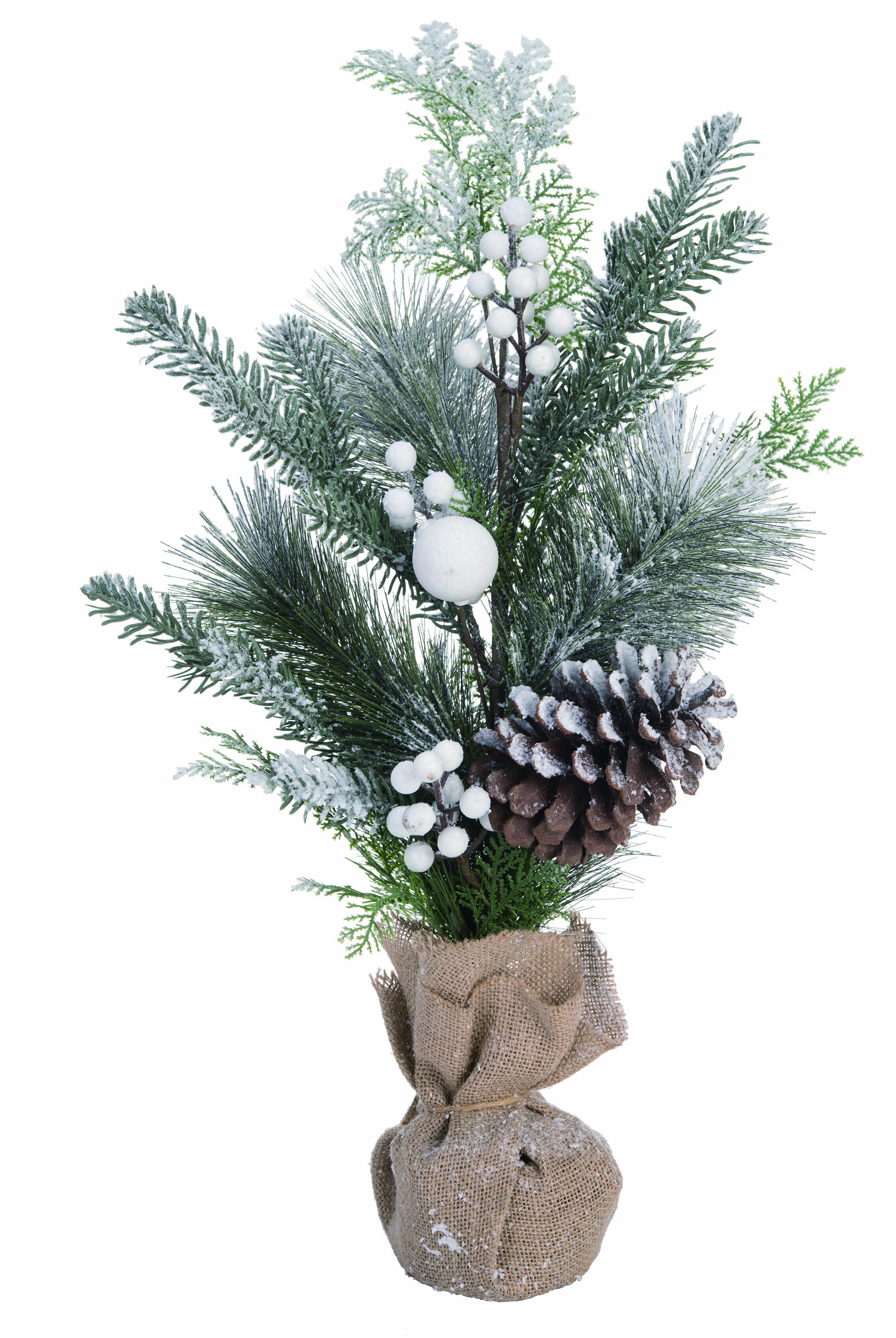 The Holiday Aisle Pinecone Small Snowy Pine Tree Wayfair