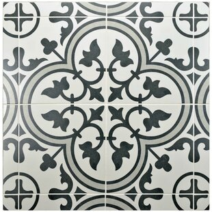 black and white floor tile. Artea 9 75  X Porcelain Field Tile In Dark Gray White Floor You Ll Love Wayfair