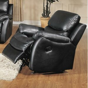 brett top grain leather rocker recliner - Leather Rocker Recliner